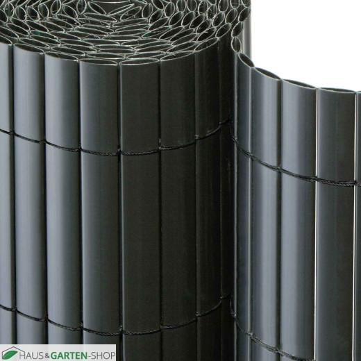 Sichtschutzmatte PVC anthazit - Detail