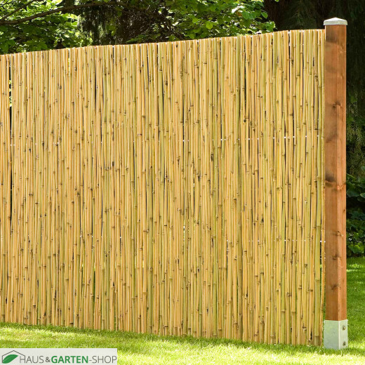 Zaunpfosten Natur für Bambus-Elemente - Anwendung