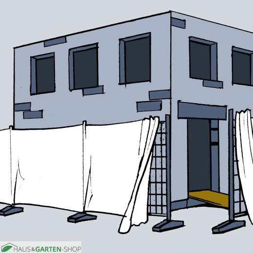 Bausichtschutz weiß
