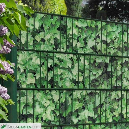 M-tec print® bedruckte Efeu Hecke Sichtschutzzaun im Garten