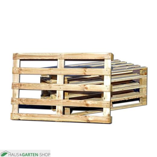 Einwegpalette aus solidem Holz Frontansicht