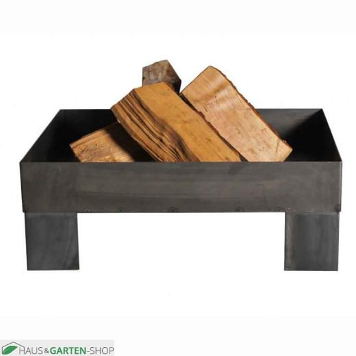 Feuerschale Pan6 - unlackiert mit Holz