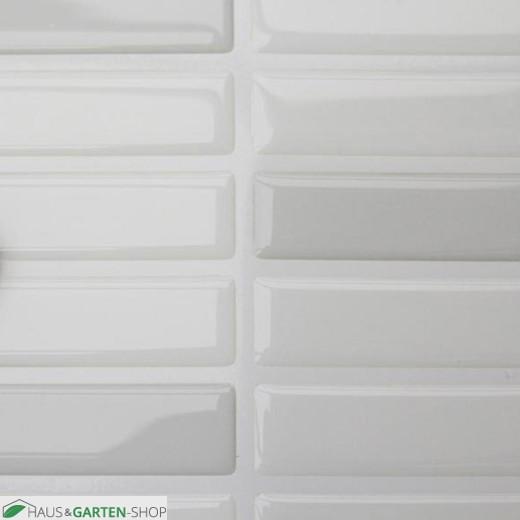 Mosaik Fliesenaufkleber weiß-grau im Detail