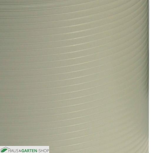 Sichtschutzstreifen Hart-PVC Steingrau - Rillenstruktur