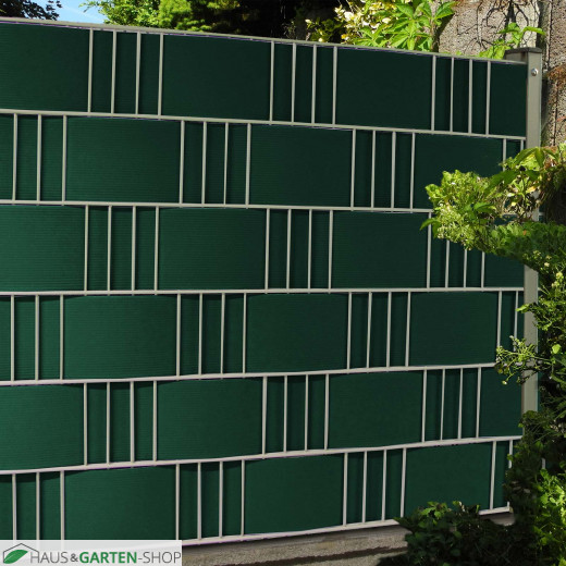 Sichtschutzzaun  M-tec Hart PVC Sichtschutzstreifen - moosgrün