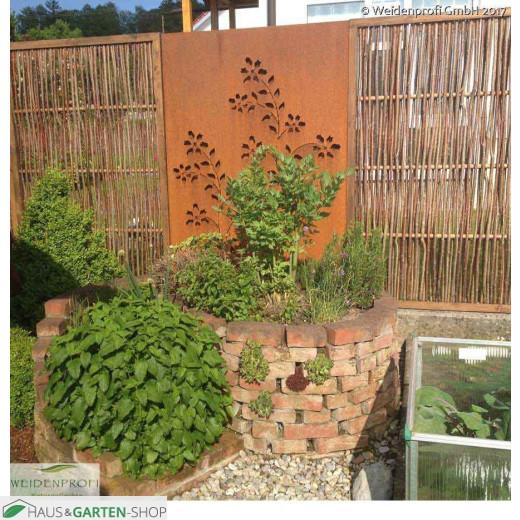 Haselnuss Flechtzaun Komfort - Garten - Sichtschutz