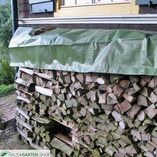 Holzabdeckplane - Schutz für Feuerholz