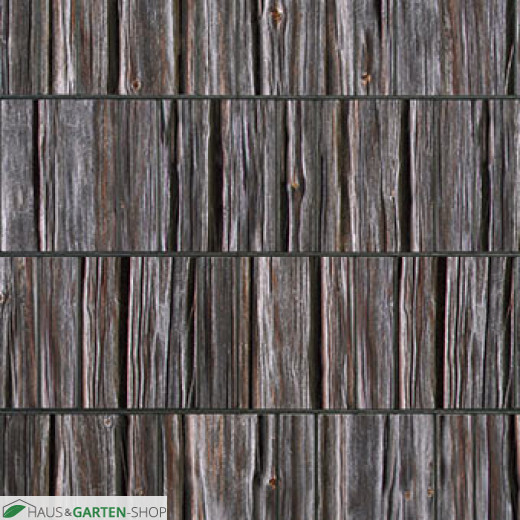 Rustikale Optik Sichtschutzstreifen Motiv Holzbohle