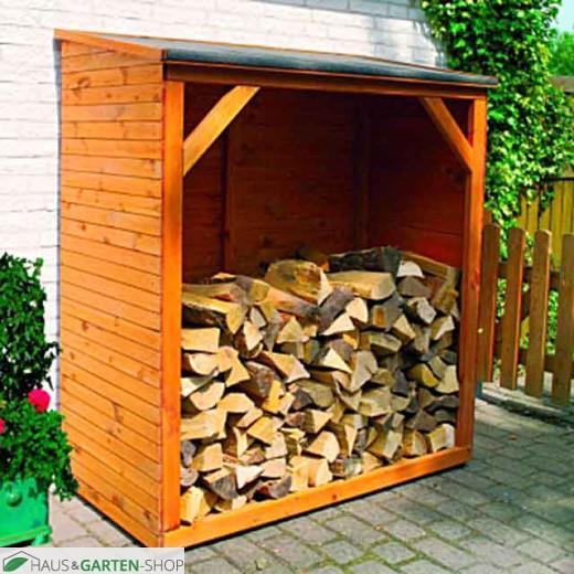 Lagerkasten für Feuerholz aus Kieferholz