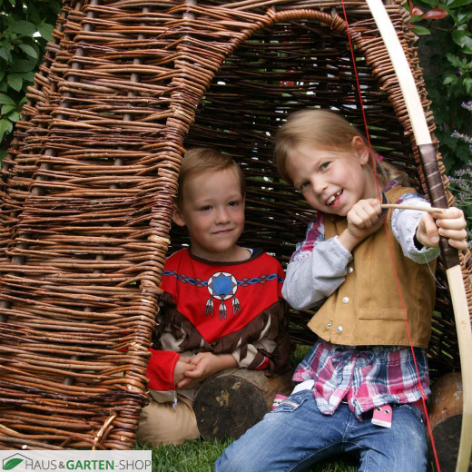 Natur Kinderspielhaus - Tipi aus Korbweide