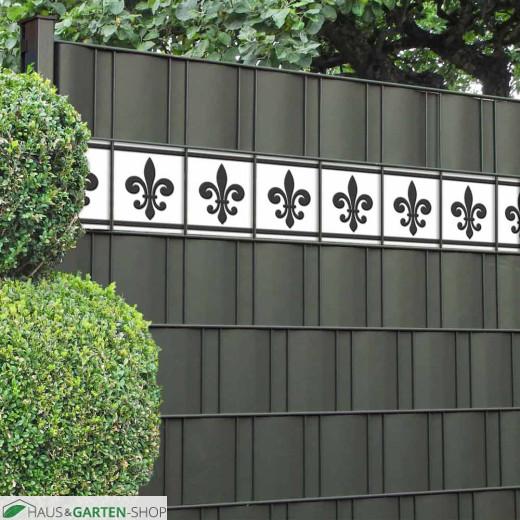 Sichtschutzstreifen Französische Lilie