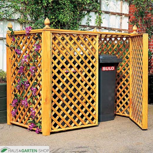 Mülltonnen Spalierbox für zwei Mülltonnen im Garten