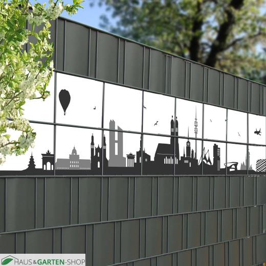 Münchner Stadt-Motiv für den Garten-Sichtschutzzaun