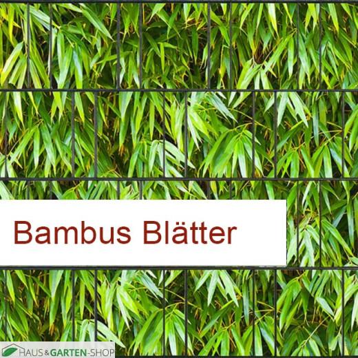 PES Sichtschutzstreifen Motiv Bambus Blätter