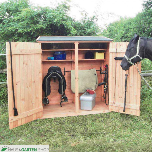 Holz - Pferde Sattelschrank Pferdebedarf Unterbringung