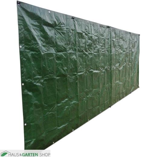 Gewebeplane 140g m² - grün 1,80x5m für Metallgittermatten