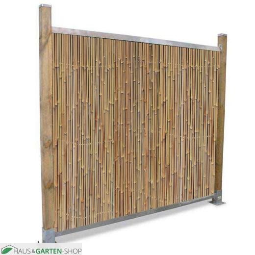 Profil für Sichtschutzmatten aus Bambus