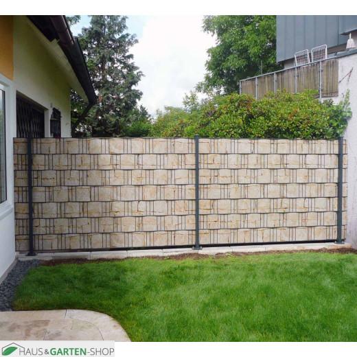 Sischtschutzmotiv Sandsteinmauer im Garten