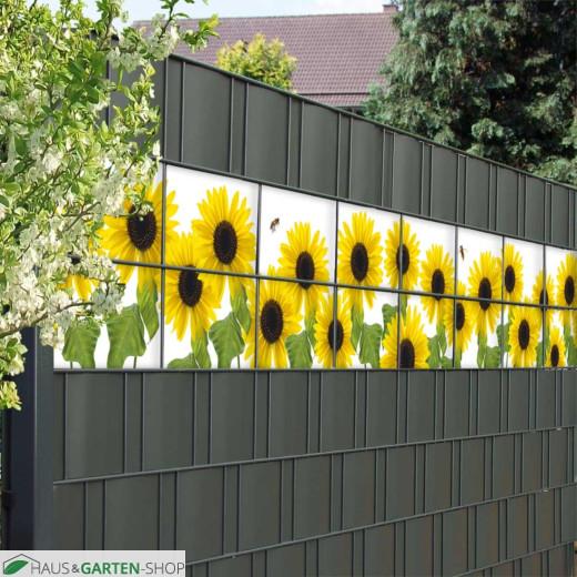 Lebhafte Sonnenblumenlandschaft im Garten