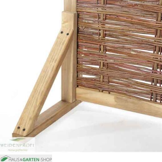 Paravent mit Holzstandfuß