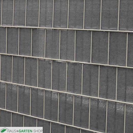 Sichtschutzstreifen winddurchlässig 0,19x70 m silber in Zaun