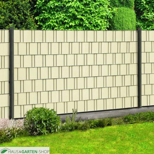 Sichtschutzzaun M-tec Profi -line ® Sichtschutz Streifen creme beige