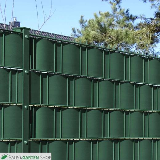 M-tec Gittermattenzaun Grün mit Pfosten und Hart PVC