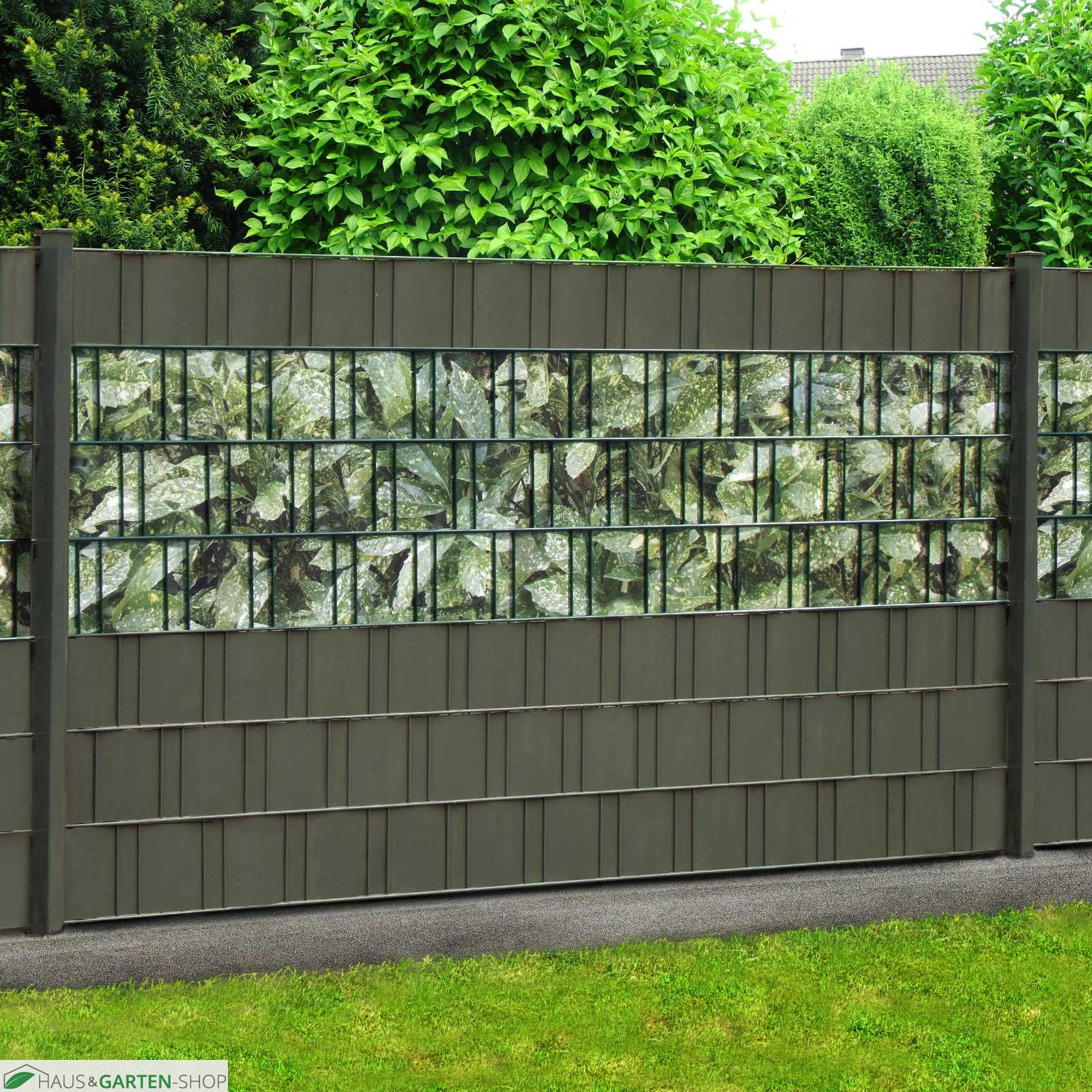 m tec print weich pvc sichtschutzstreifen aukube hecke. Black Bedroom Furniture Sets. Home Design Ideas