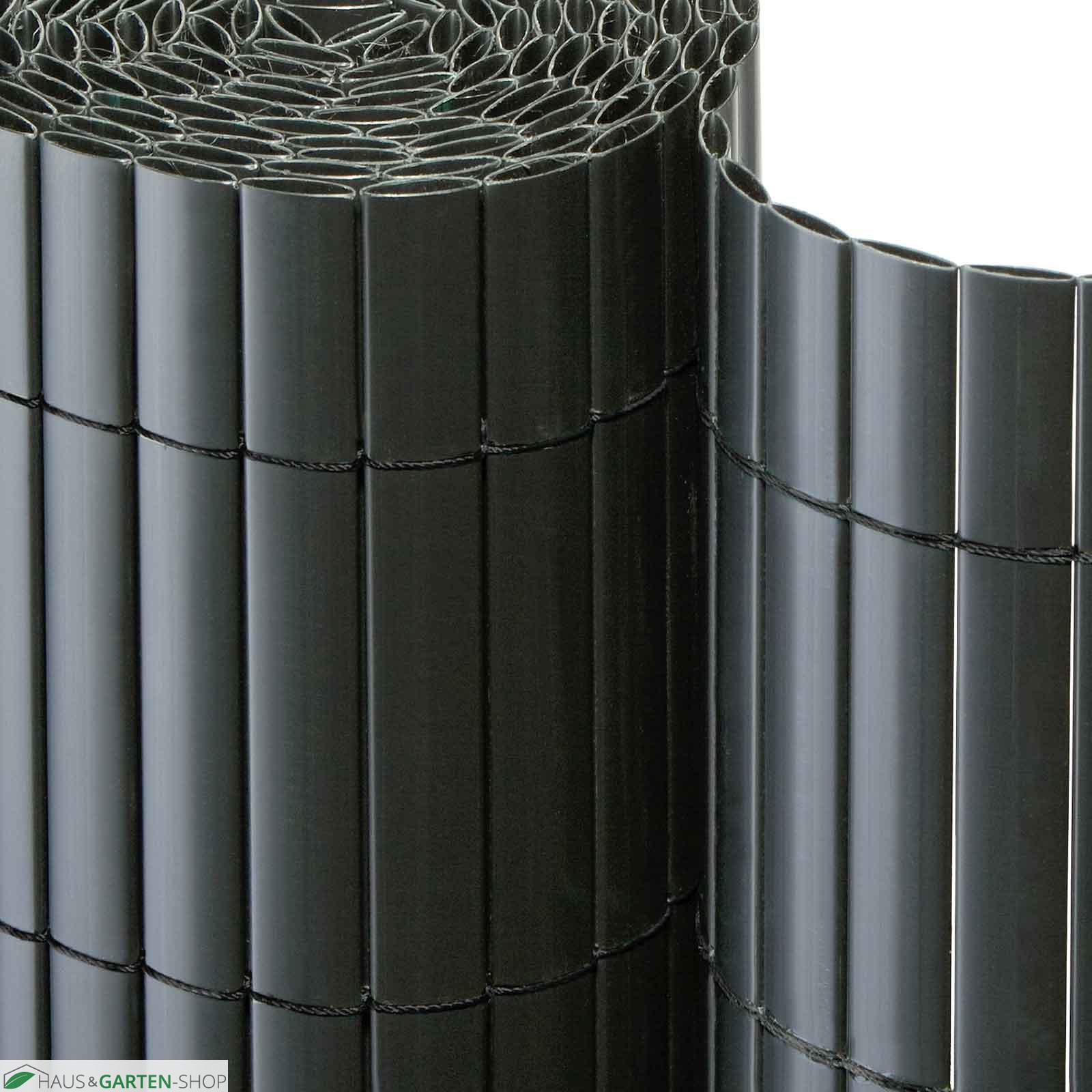 Balkonsichtschutzmatte PVC anthrazit für Garten Terrasse