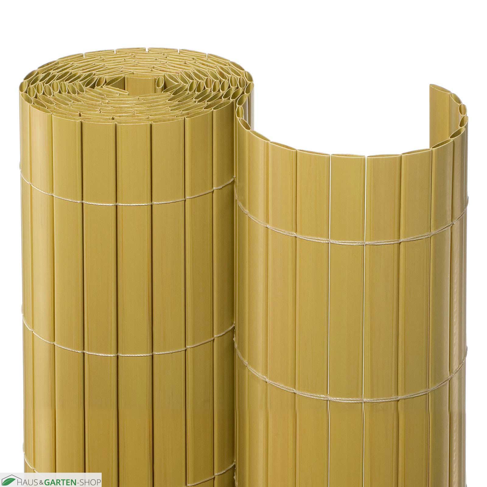 pvc balkonsichtschutzmatte in der farbe bambus stabil. Black Bedroom Furniture Sets. Home Design Ideas