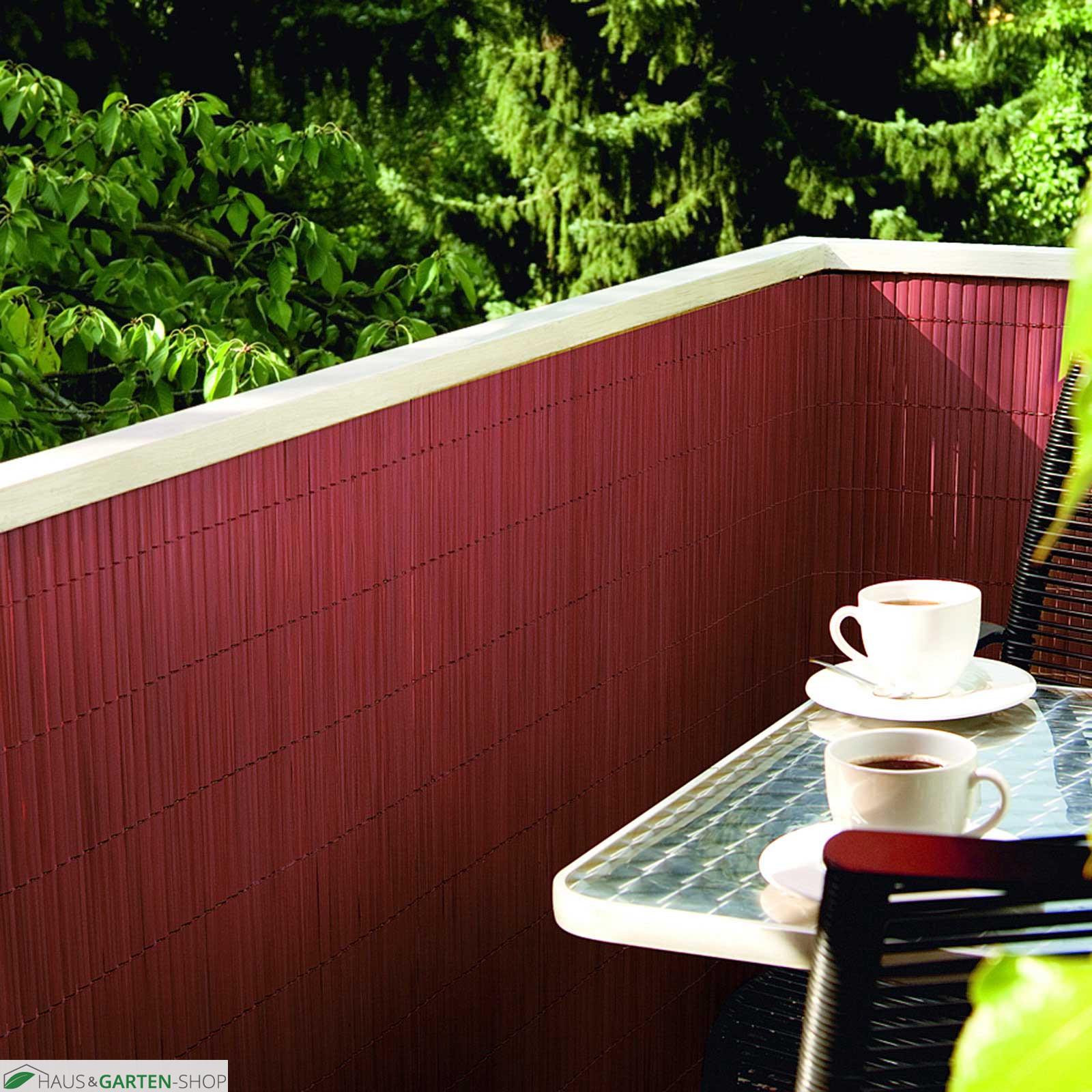Balkonsichtschutzmatte Rolle Rot aus Kunststoff Balkon