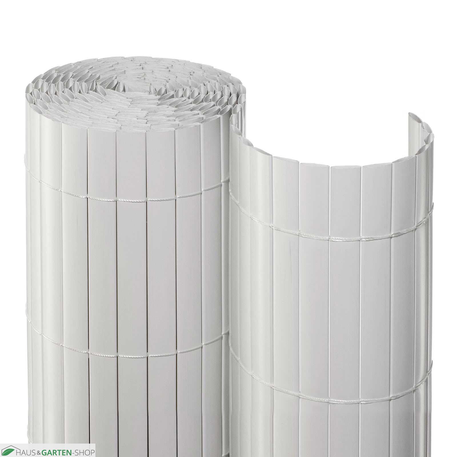 Balkonsichtschutzmatte Rolle Pvc In Weiss Aus Kunststoff