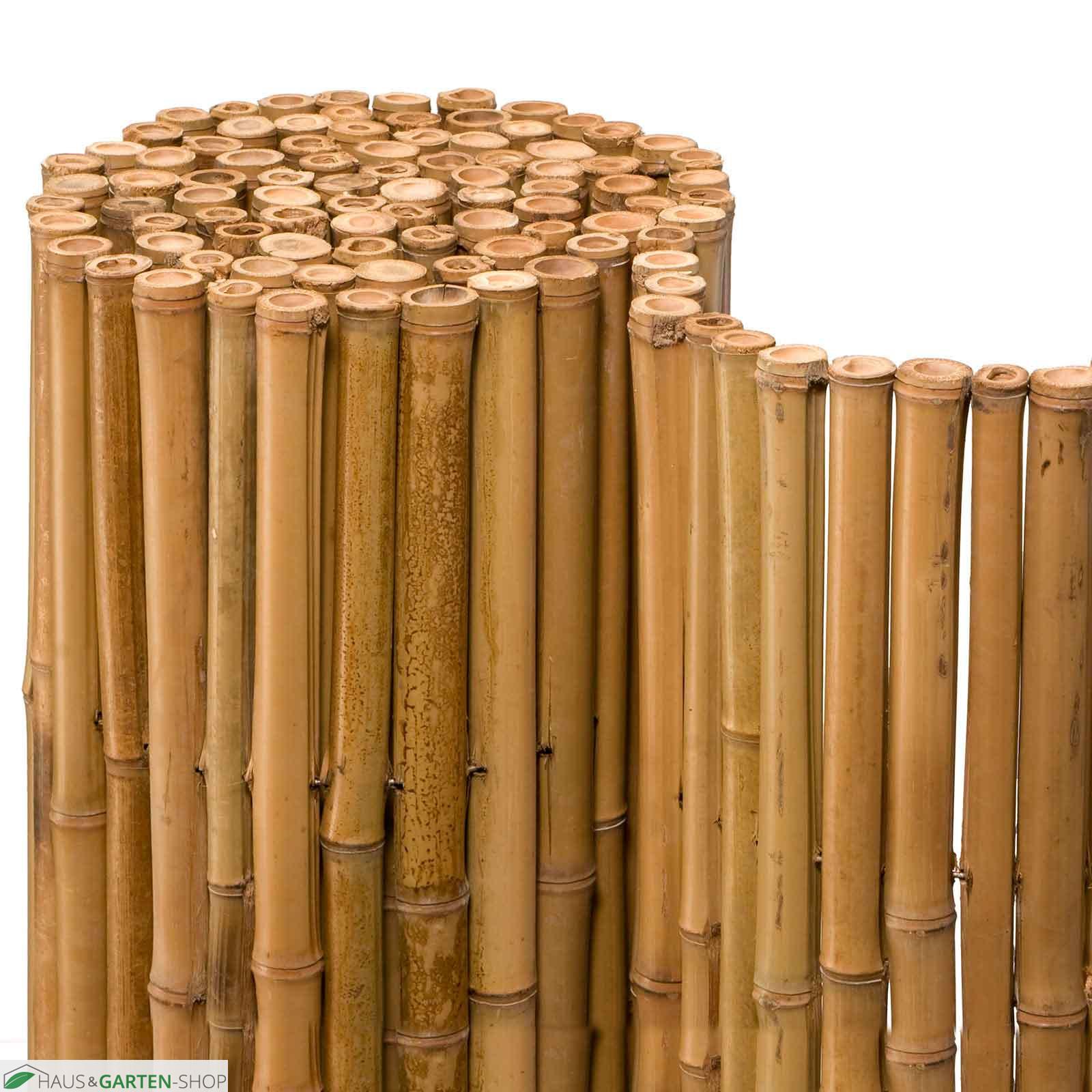 Stabile blickdichte Bambusmatten für Balkon und Garten