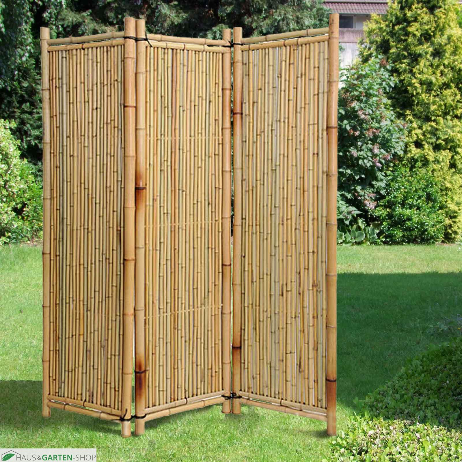 Bambusparavent Deluxe natur ein natürlicher Sichtschutz