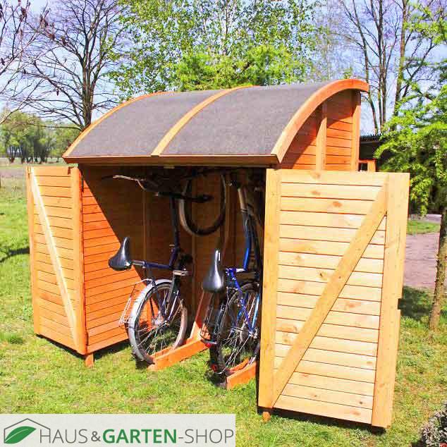 bikeport fahrradunterstand box massivem kiefernholz. Black Bedroom Furniture Sets. Home Design Ideas