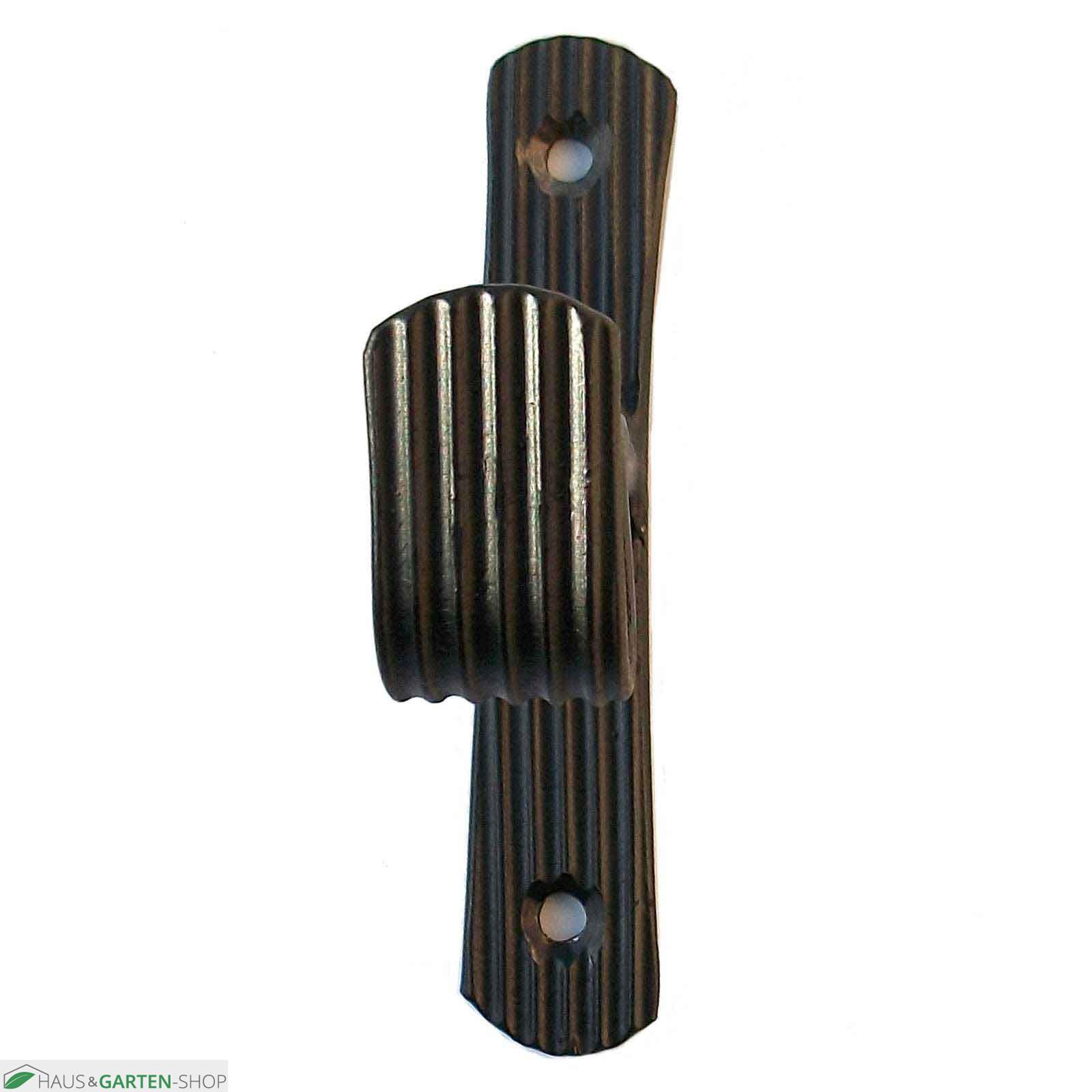 gardinenstangenhalter typ line schwarz lackiert metall. Black Bedroom Furniture Sets. Home Design Ideas