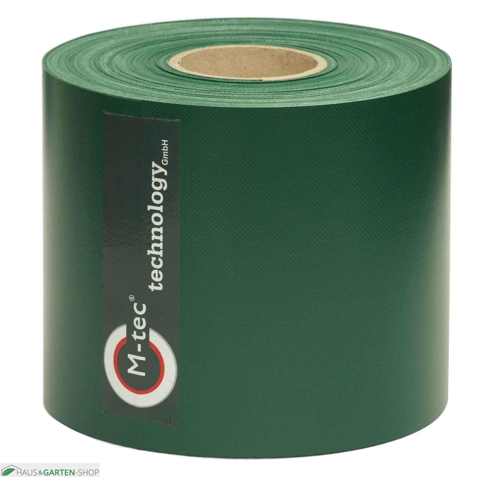 Sichtschutzstreifen im Doppelstabzaun Weich PVC blickdicht grün