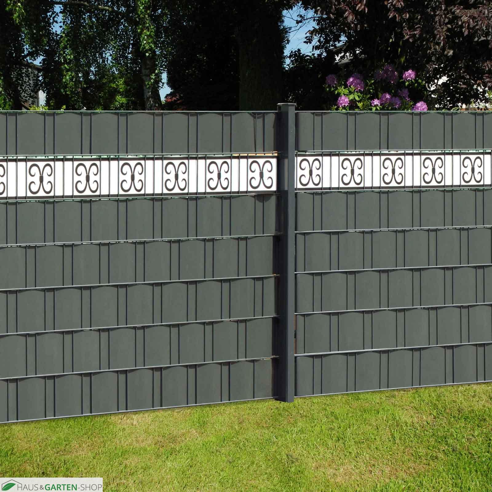 Design Zaun Streifen Meranofür den Sichtschutzzaun