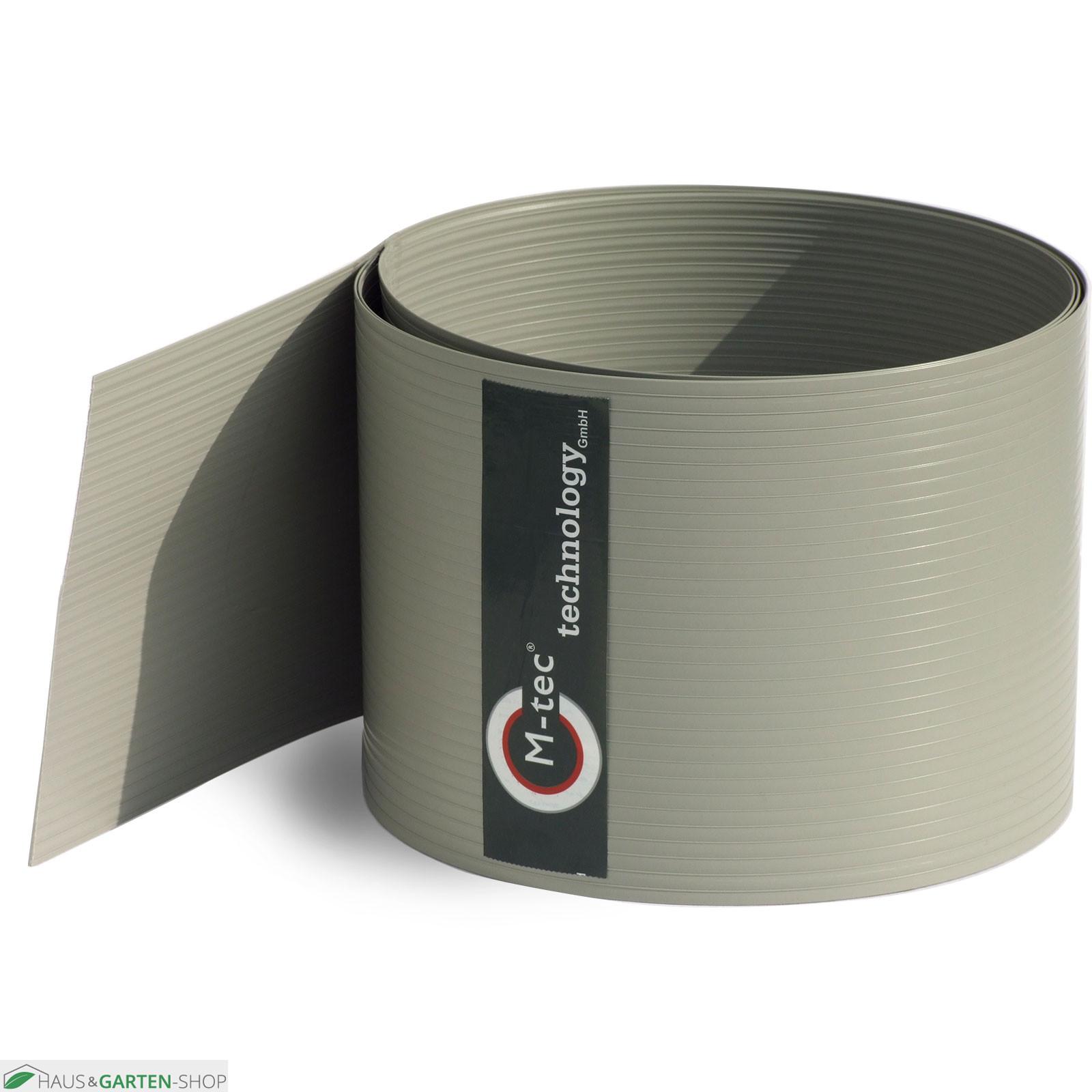 Zaunblendenstreifen Hart PVC in steingrau zum einflechten