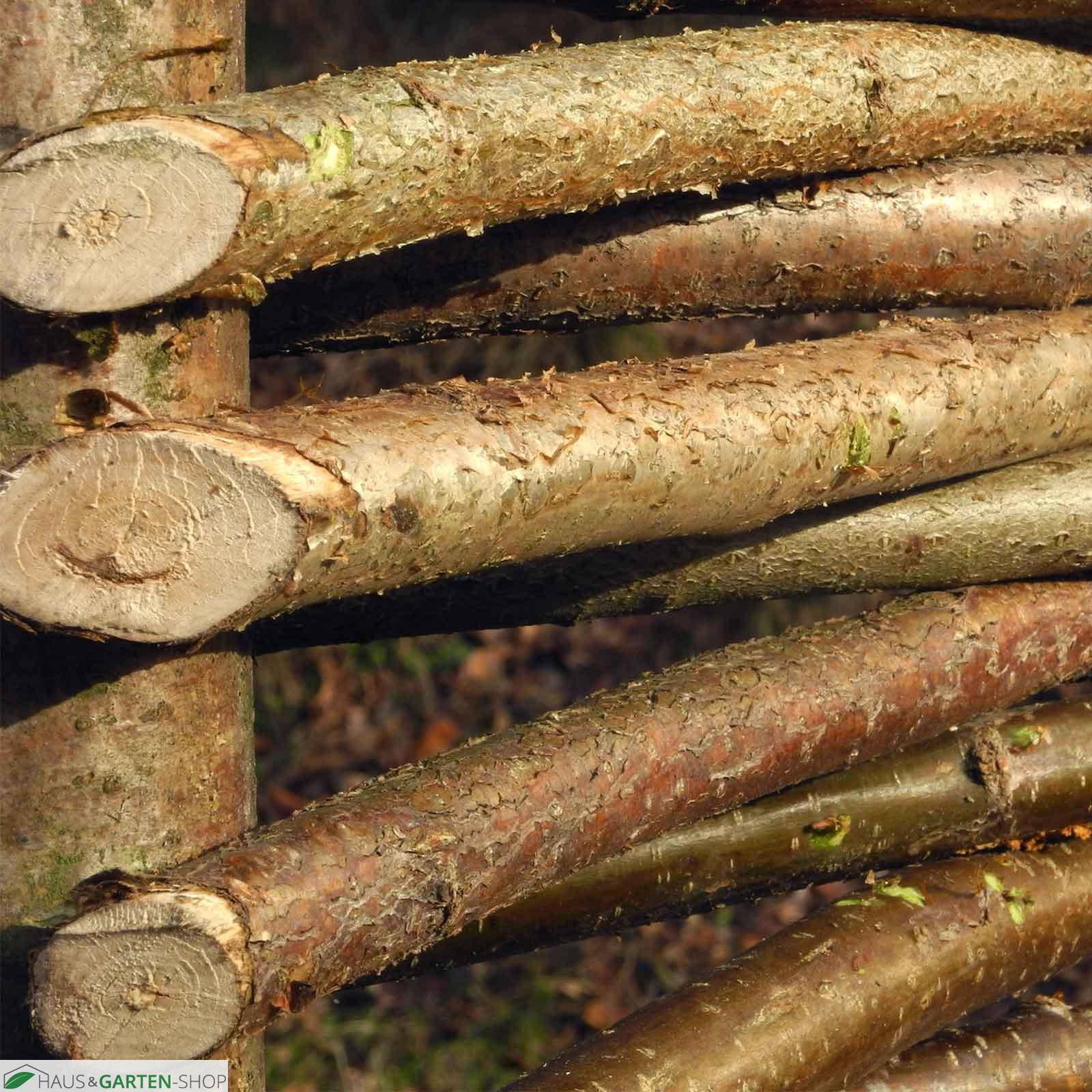 haselnuss flechtzaun somme natürlicher sichtschutz massiv, Hause und Garten