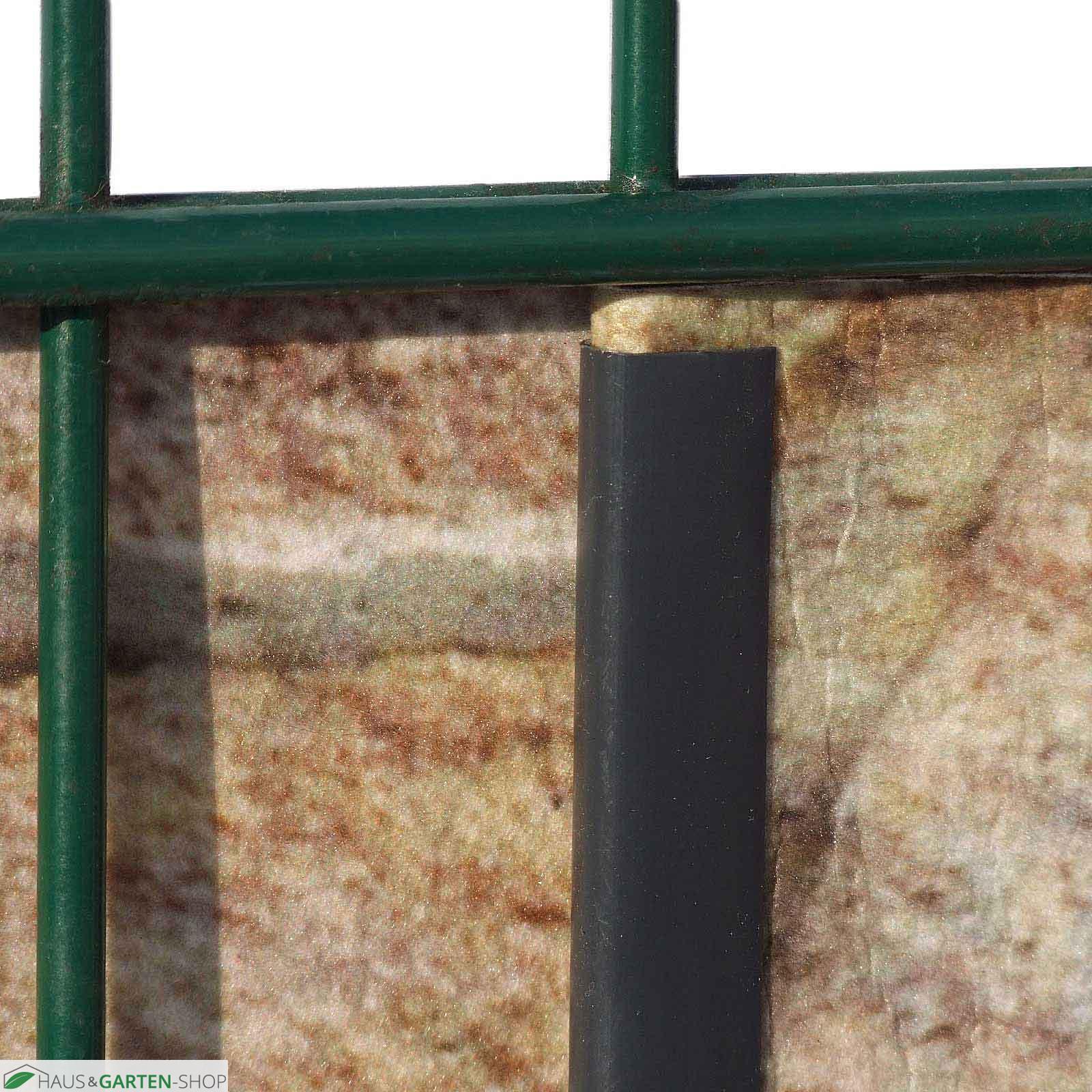 PVC Sichtschutzstreifen Klemmschienen Clipse Klemmen