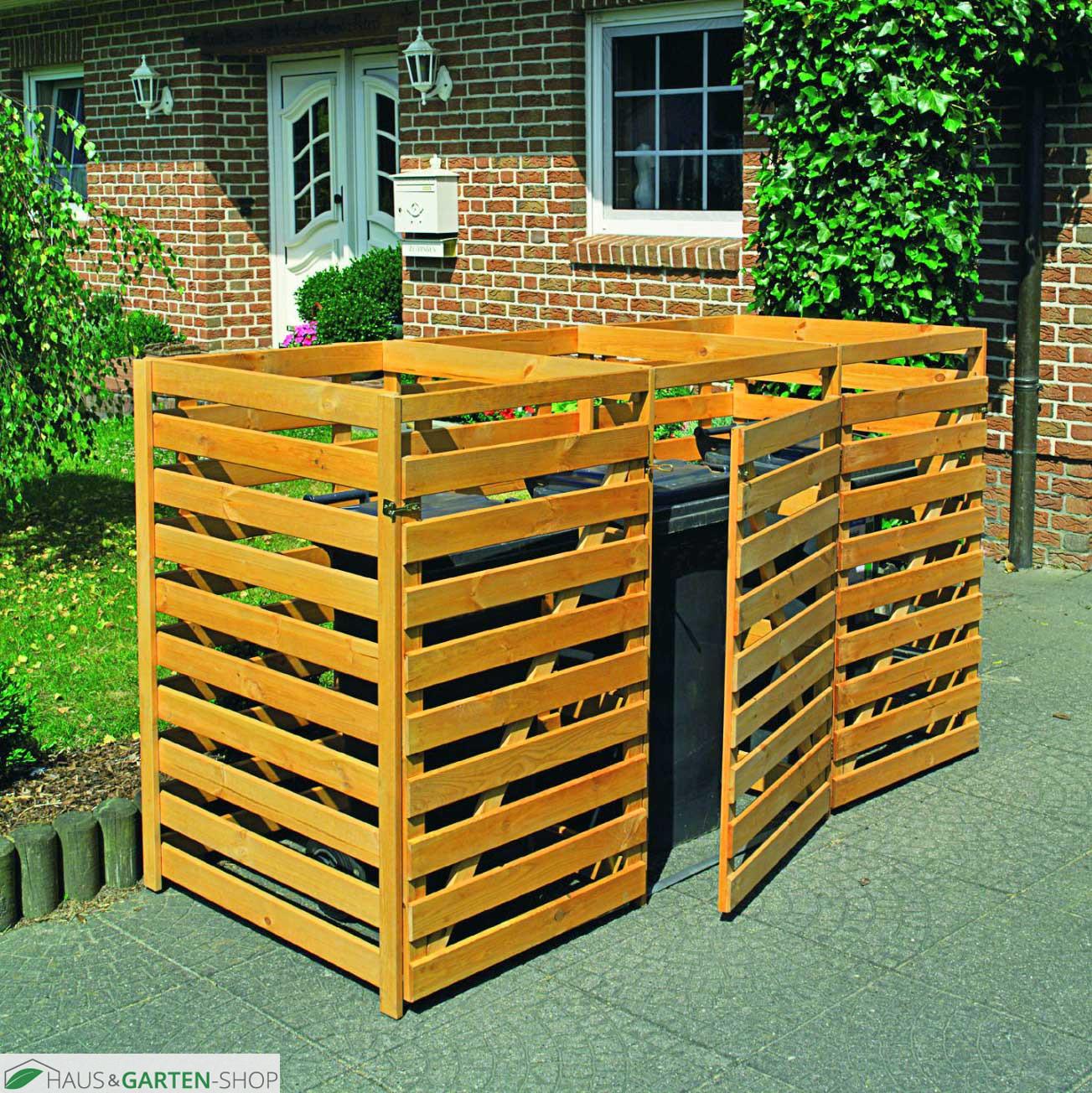 m lltonnenbox f r 2 tonnen bis 240 liter aus kiefernholz. Black Bedroom Furniture Sets. Home Design Ideas