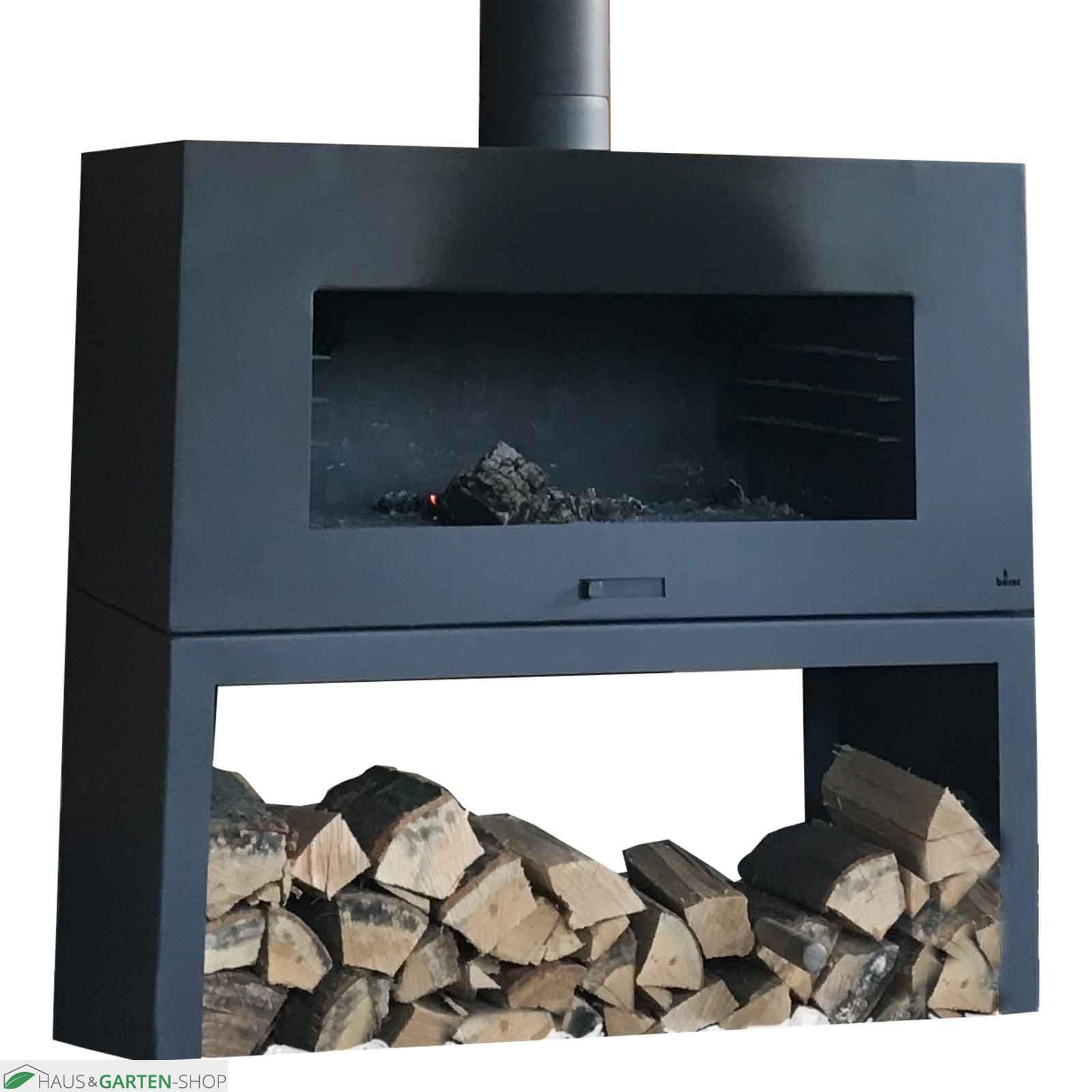 garten grillkamin odin cortenstahl feuerstelle schwarz. Black Bedroom Furniture Sets. Home Design Ideas