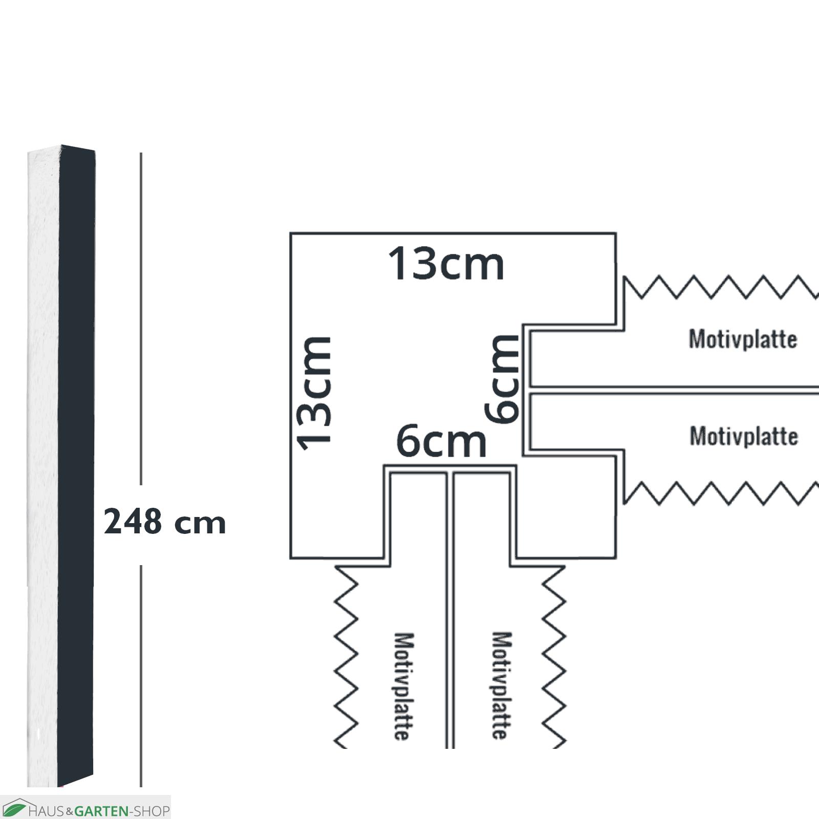 Doppelseitiger Betonpfosten Zur Montage Von Motivplatten