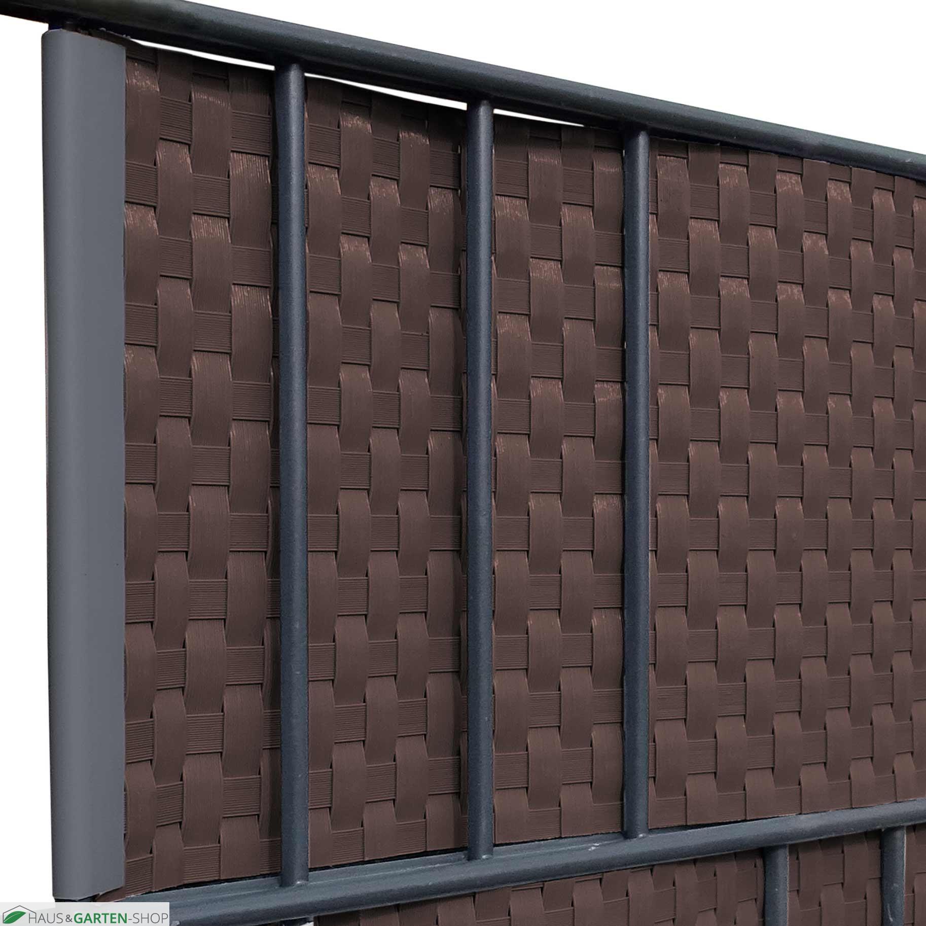 M Tec Lounge Rattangeflecht Sichtschutz Braun