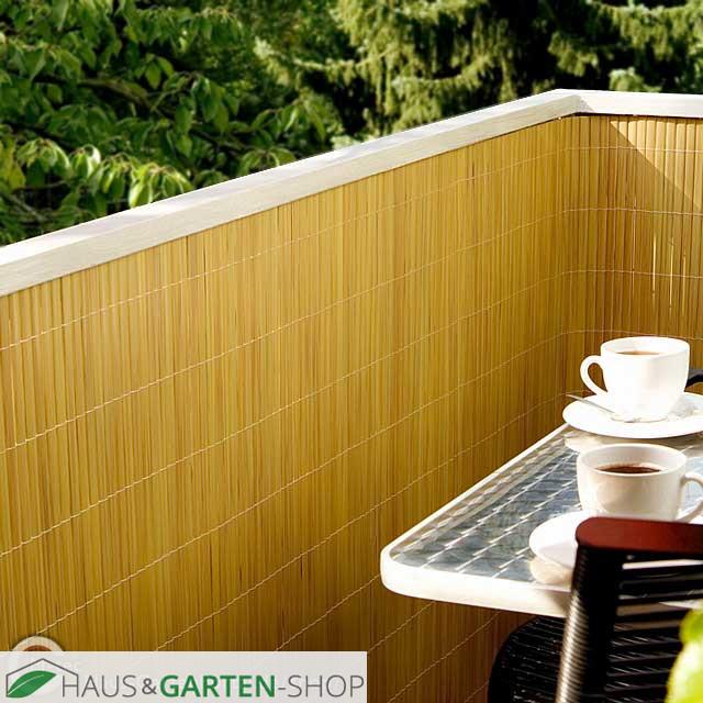 balkonsichtschutzmatte kompakt pvc rolle bambus beige. Black Bedroom Furniture Sets. Home Design Ideas
