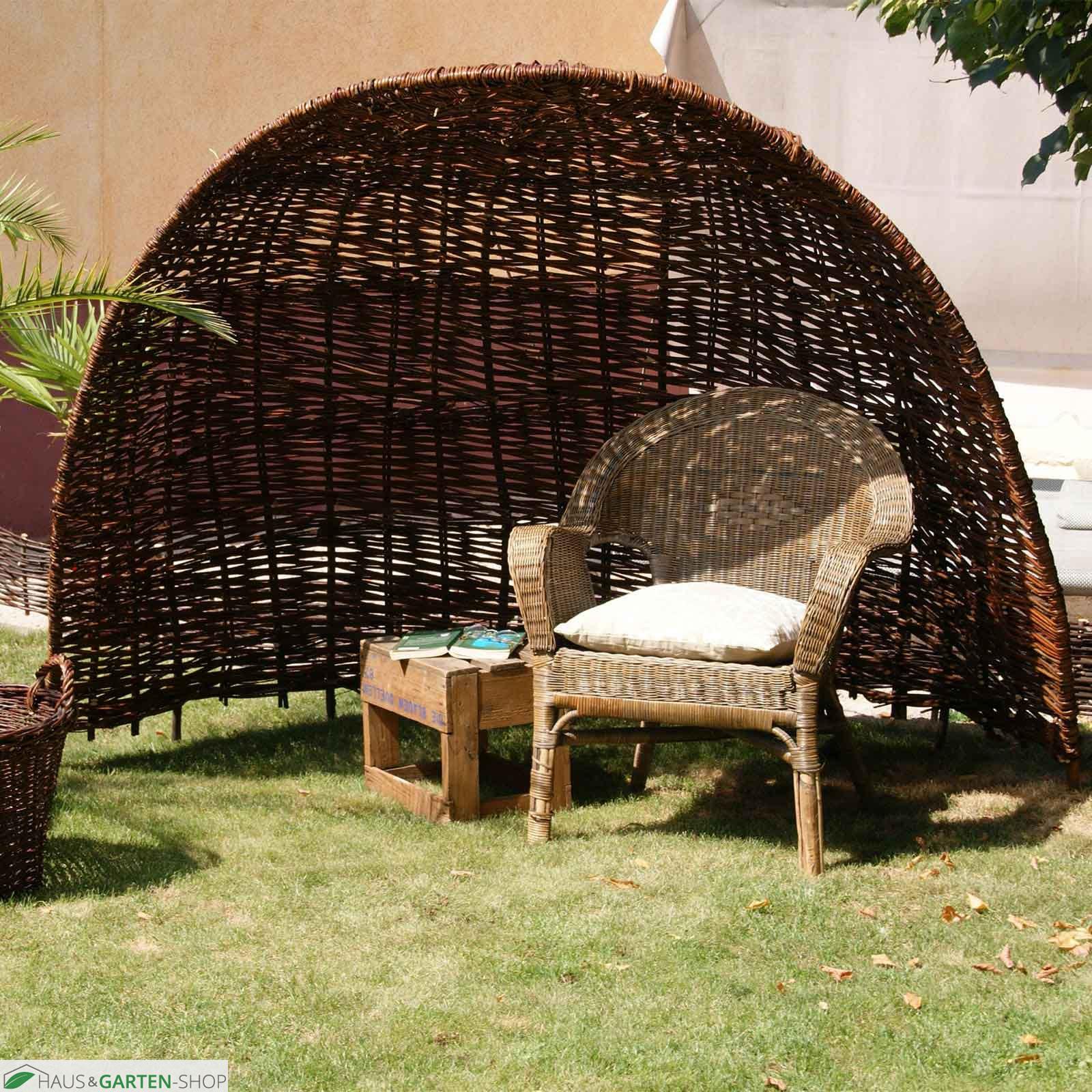 strandmuschel aus weidengeflecht f r den garten. Black Bedroom Furniture Sets. Home Design Ideas