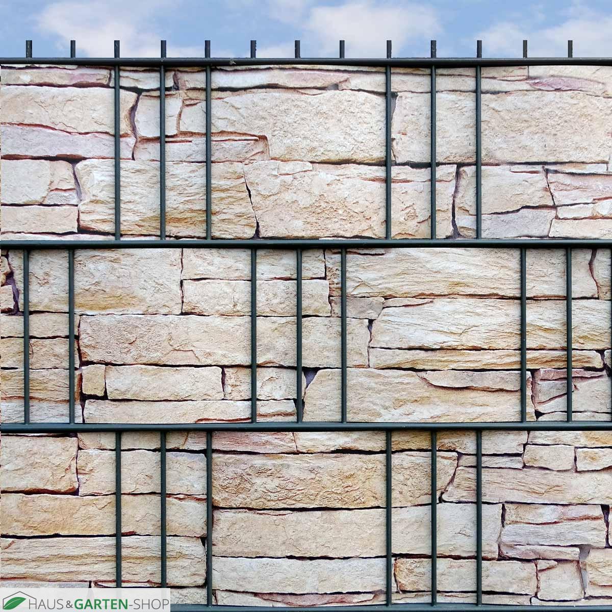 Hubsche Bedruckte Hart Pvc Sichtschutzstreifen Motiv Sandstein