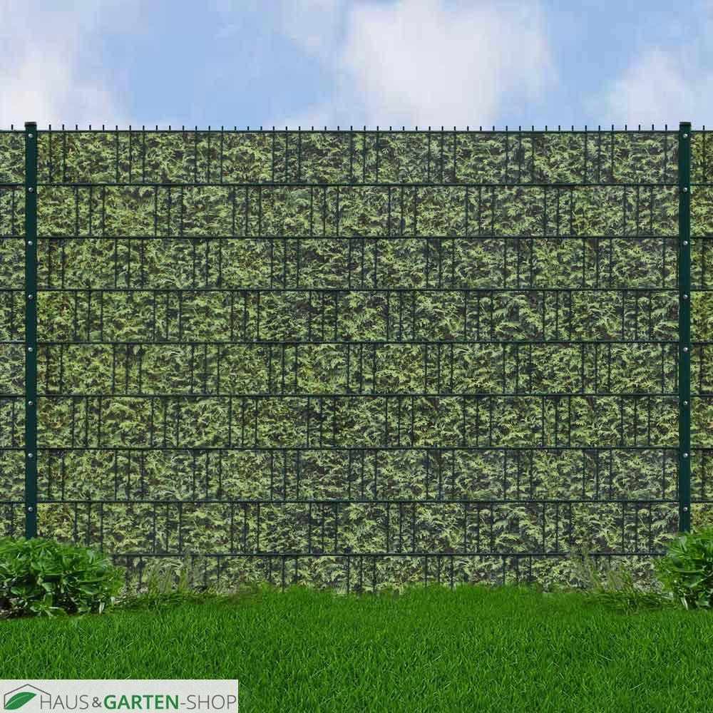 Sichtschutz Mattenzaun Set Inklusive Bedruckten Hart Pvc Streifen