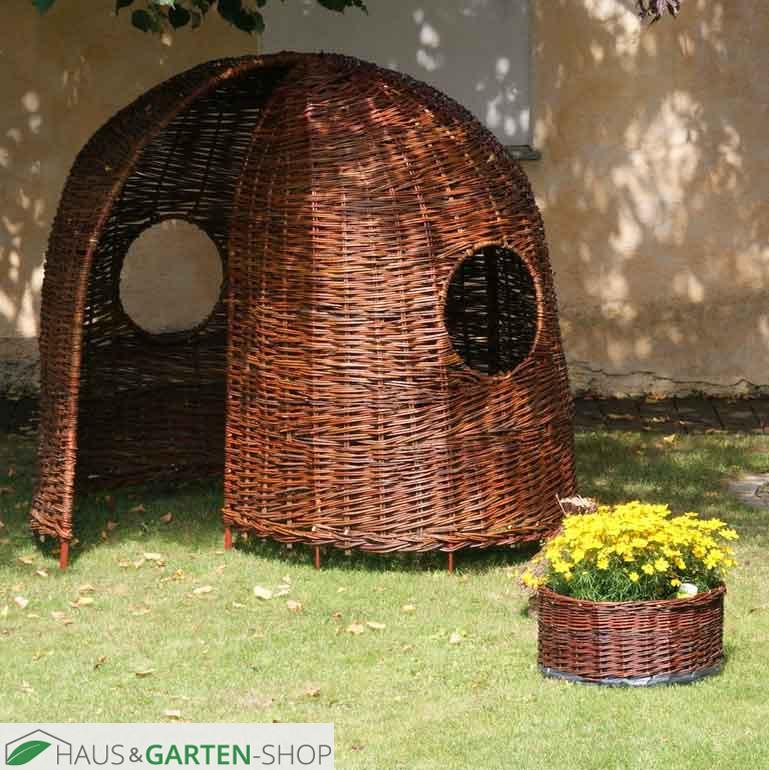 korbweide geflochten kinderhaus iglu aus weidenruten. Black Bedroom Furniture Sets. Home Design Ideas